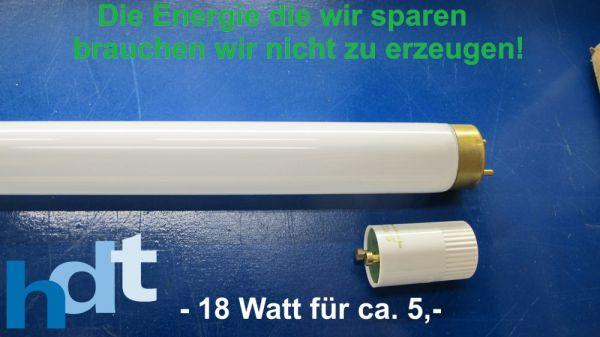 Energiesparen Mit Minus 18w Pro 58w Leuchtstoffrohre Hdt